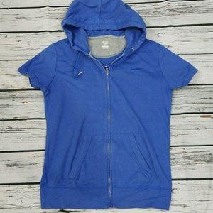 Nike zip up short sleeve hoodie sz Large
